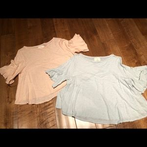 Blush colored Anthropologie shirt